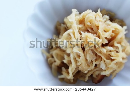 Japanese healthy food, simmered radish - stock photo