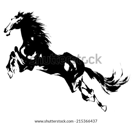 Japanese horse - stock photo