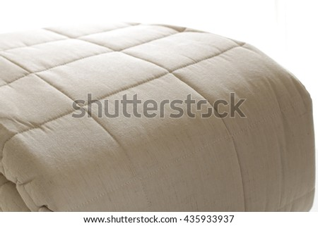 Japanese interior, Futon in beige color - stock photo