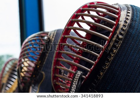 Japanese kendo, a sport that has been very popular. - stock photo