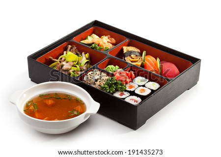 Japanese Lunchbox - stock photo