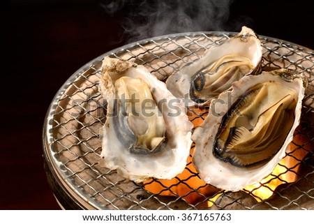 japanese oyster - stock photo