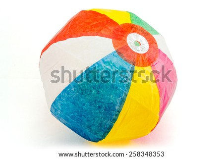 Japanese Paper Balloons / A Japanese traditional toy made of sturdy waxed paper. - stock photo
