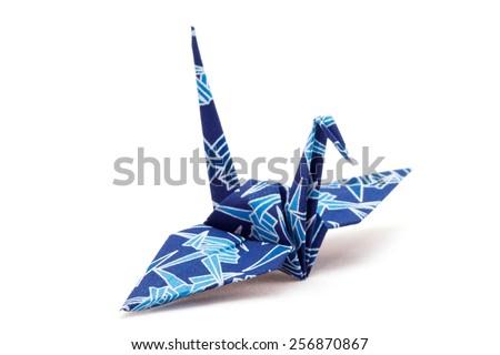 Japanese paper crane  - stock photo