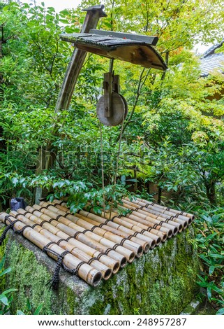 Japanese Pulley at Koto-in Temple in Kyoto, Japan  - stock photo