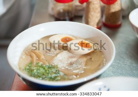 japanese ramen noodle - stock photo