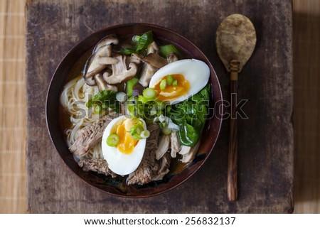 Japanese ramen soup - stock photo