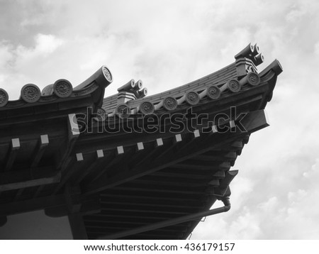 japanese roof - stock photo
