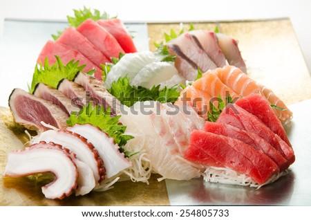 japanese sashimi - stock photo