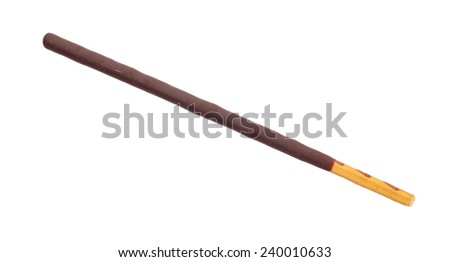 Japanese snack food biscuit stick chocolate coated   - stock photo