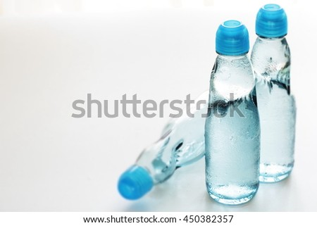Japanese soda drink Ramune for summer image - stock photo