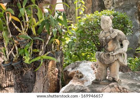 japanese statues Child, Thailand - stock photo