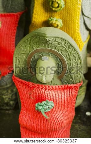 Japanese stone figure - stock photo