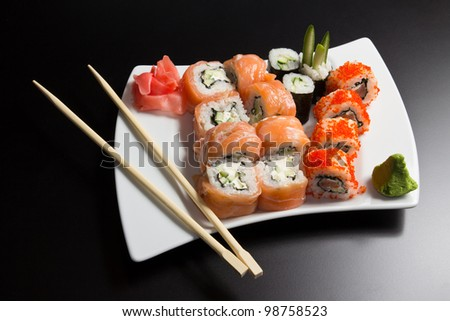 Japanese sushi seafood - stock photo