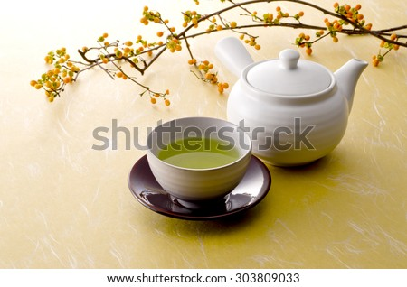 japanese tea - stock photo