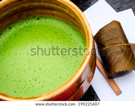 Japanese traditional green tea - stock photo