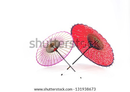 Japanese traditional umbrellas - stock photo
