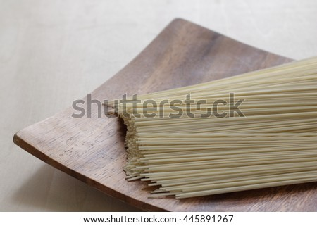 japanese wheat flour noodle, somen - stock photo