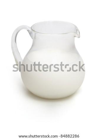 Jar of milk - stock photo