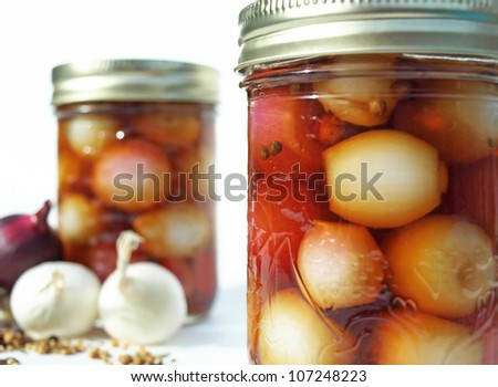 Jars of Pickled Onions