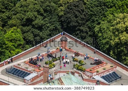 Jasna Gora sanctuary - Czestochowa, Poland - stock photo