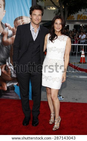 Jason Bateman and Amanda Anka at the Los Angeles premiere of 'The Change-Up' held at the Regency Village Theatre in Westwood on August 1, 2011.  - stock photo