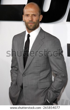 Jason Statham at the Los Angeles premiere of 'Furious 7' held at the TCL Chinese Theatre IMAX in Hollywood, USA on April 1, 2015.  - stock photo