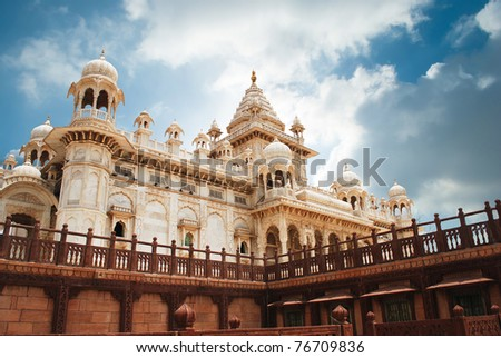 Jaswant Thada in Jodhpur, Rajasthan - stock photo