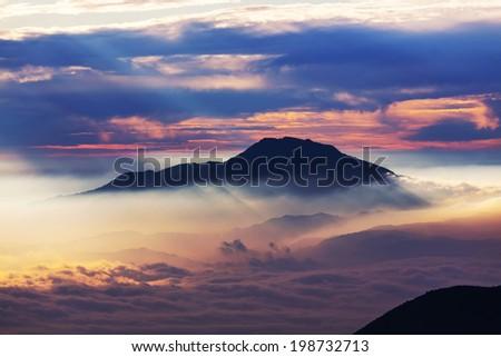 Java  landscapes - stock photo