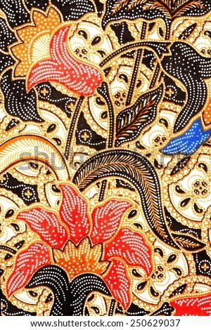 Javanese Batik Seamless Pattern - stock photo