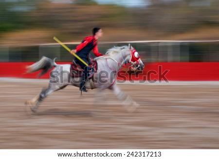 javelin (cirit) Riding  - stock photo