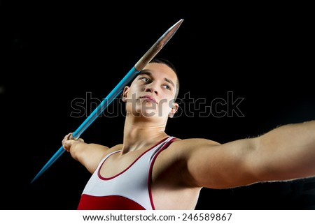 Javelin Thrower - stock photo