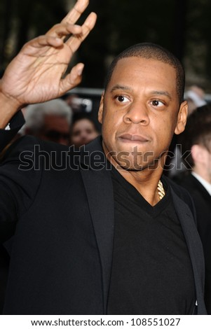 """Jay Z arriving for the """"Men in Black 3"""" premiere at the Odeon Leicester Square, London. 16/05/2012 Picture by: Steve Vas / Featureflash - stock photo"""