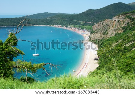Jaz is a beach in the Budva Municipality in Montenegro - stock photo