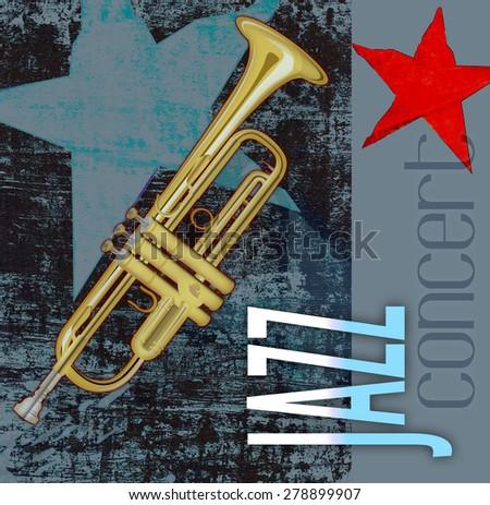 Jazz night concert - stock photo