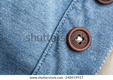 Jean cloth with buttons - stock photo
