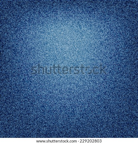 jeans blue background - bright spot in the middle - stock photo
