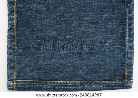Jeans Denim Texture and Stitches - stock photo