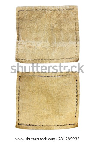 jeans labels isolated on white background - stock photo