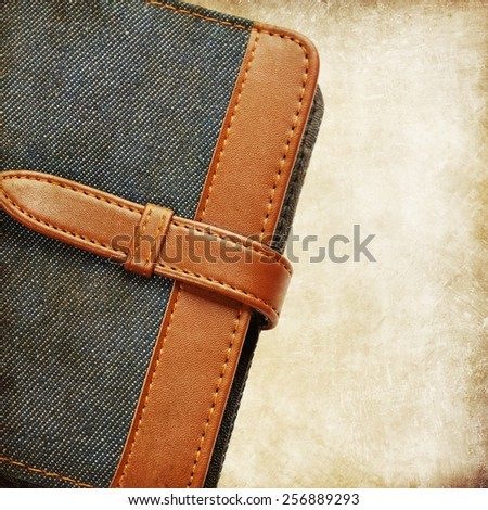 Jeans notebook - stock photo