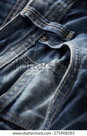 Jeans pant close up - stock photo