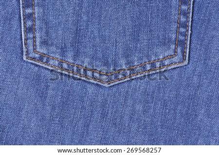 Jeans pocket. Background of denim texture - stock photo