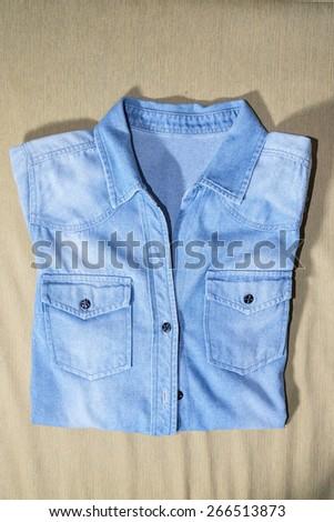 jeans shirts - stock photo