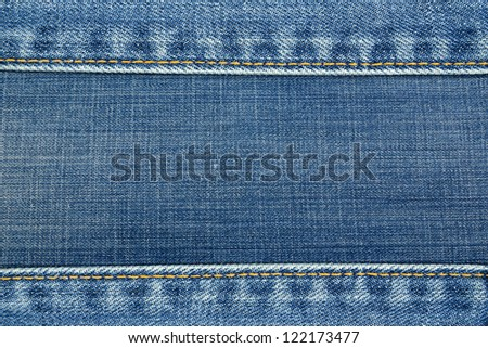 Jeans texture frame - stock photo
