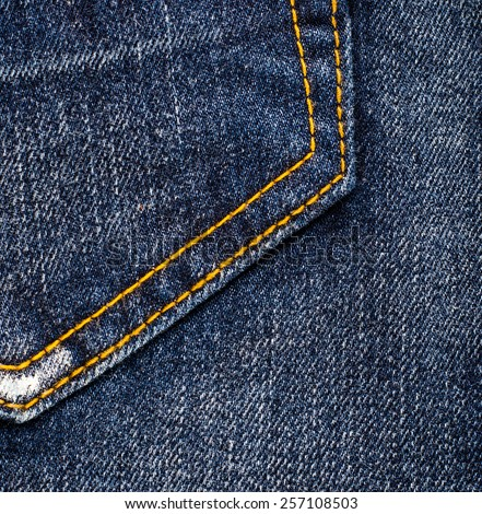 Jeans texture or background. - stock photo