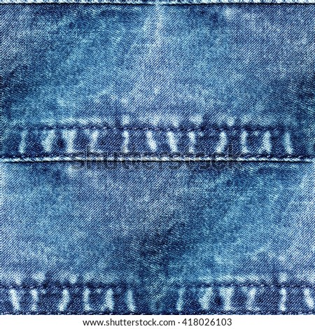 jeans texture - seamless grunge background - stock photo