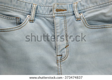 Jeans with pockets close-up for background - stock photo