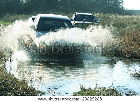 Jeep off road - stock photo