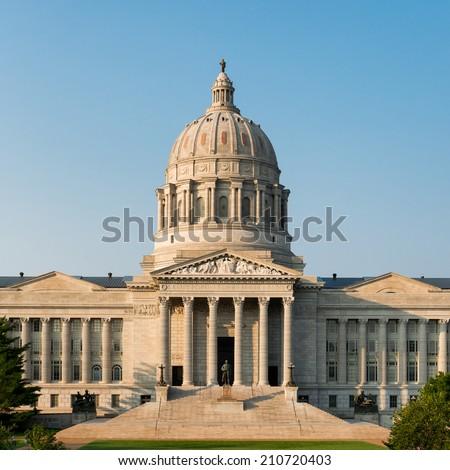 JEFFERSON CITY, MISSOURI - JULY 20: Kolb County Courthouse on July 20, 2014 in Jefferson City, Missouri - stock photo