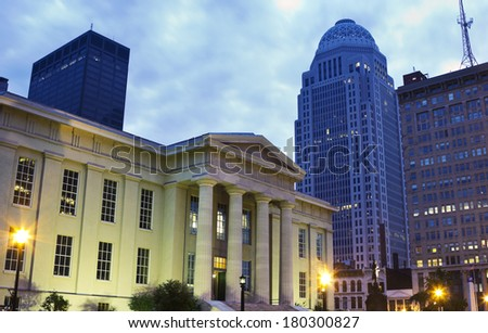 Jefferson County Building in downtown of Louisville, Kentucky - stock photo